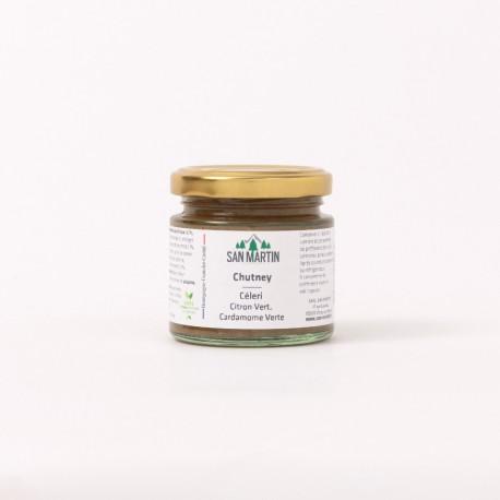 Sellerie, Limette, grünes Kardamom-Chutney