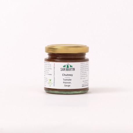 San Marzano Tomato, Sweet Pepper, Sage Chutney
