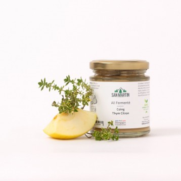 Fermented Garlic – Quince, Lemon Thyme