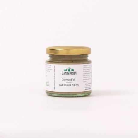 Crème d'ail aux Olives Noires