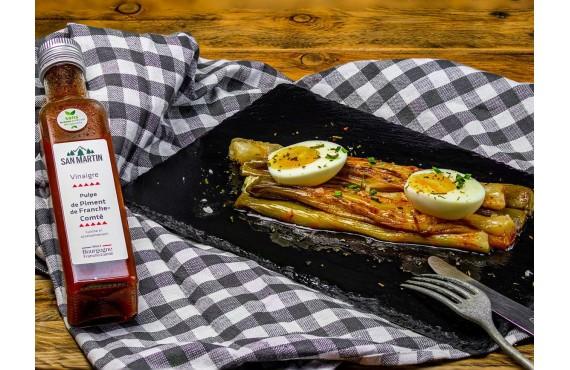 Poireaux au vinaigre au piment de Bourgogne