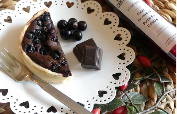 Tarte au chocolat et cassis de Bourgogne-Franche-Comté